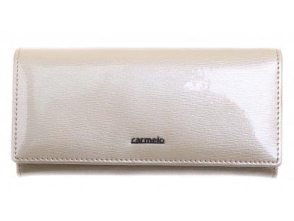 Velká dámská kožená peněženka Carmelo 2110 G K krémová
