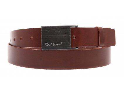 Dámský kožený opasek Black Hand 065-76 středně hnědý