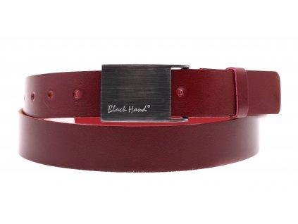 Dámský kožený opasek Black Hand 065-58 vínově červený