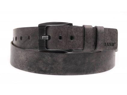 Pánský kožený opasek Black Hand 091-90 šedý s patinou
