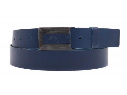 Pánský kožený opasek Black Hand 016-40 tmavě modrý