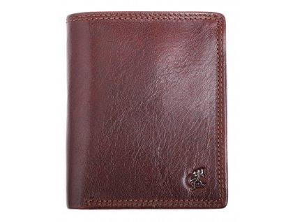 Pánská kožená peněženka Cosset 4501 Komodo hnědá