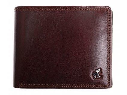 Pánská kožená peněženka Cosset 4502 Komodo hnědá