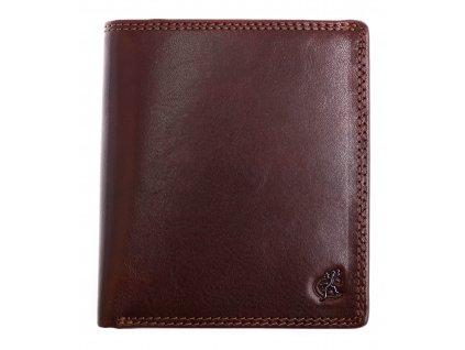 Pánská kožená peněženka Cosset 4506 Komodo hnědá
