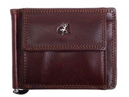 Pánská kožená peněženka dolarka Cosset 4497 Komodo hnědá
