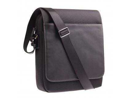 Pánská kožená taška přes rameno 296178 černá