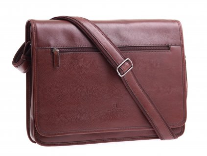 Pánská kožená messenger taška Hexagona 129482 hnědá