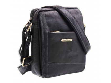 Pánská kožená taška přes rameno Sendi Design CT 740 černá