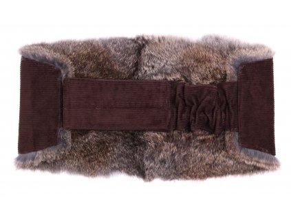 Ledvinový pás kožešinový LP203 velikost M králík
