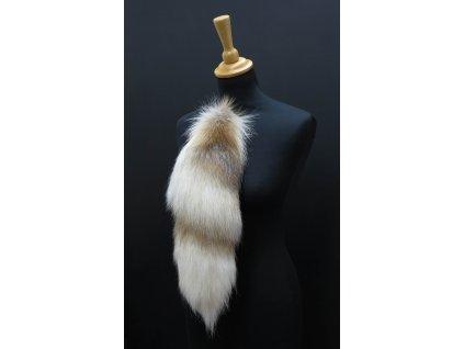 Kožešinový ohon z cross lišky č. 160 - 50 cm
