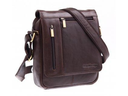 Pánská kožená taška přes rameno Sendi Design M 702 hnědá
