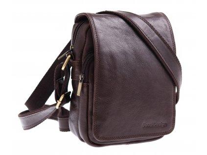 Pánská kožená taška přes rameno Sendi Design M 708 hnědá