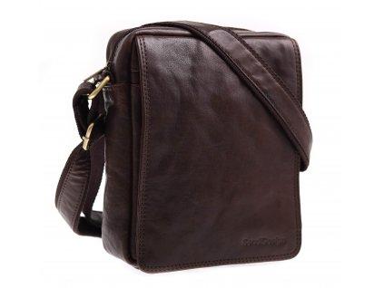 Pánská kožená taška přes rameno Sendi Design M52005 hnědá