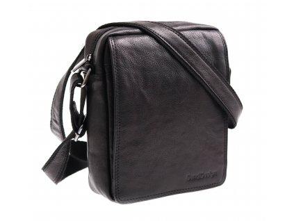 Pánská kožená taška přes rameno Sendi Design M52005 černá