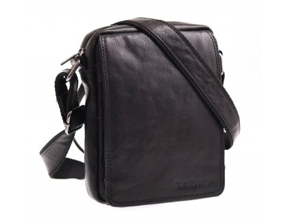 Pánská kožená crossbody taška Sendi Design M 52006 černá