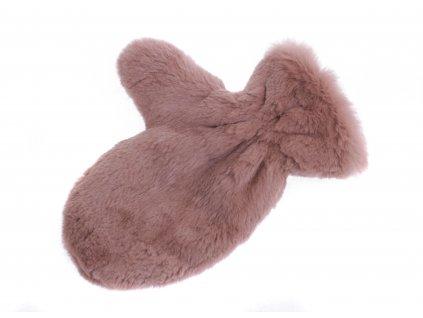 Kožešinová masážní rukavice z králičí kožešiny MAR12