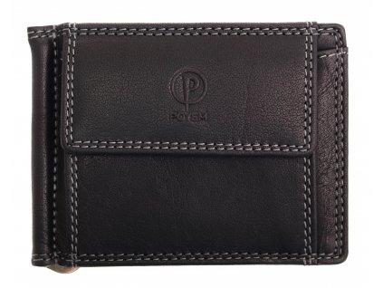 Kožená dolarovka Poyem Andora 5210 černá