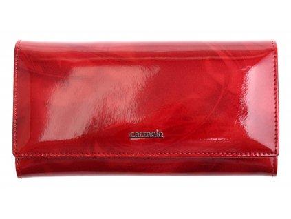 Velká dámská kožená peněženka Carmelo 2116P rámková - červená