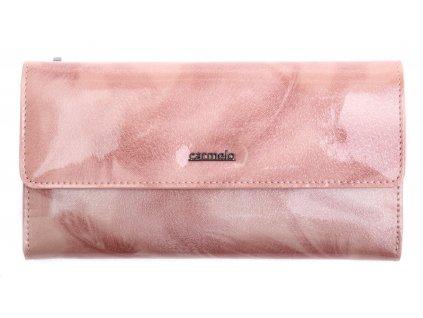 Velká dámská kožená peněženka Carmelo 2103 P - růžová