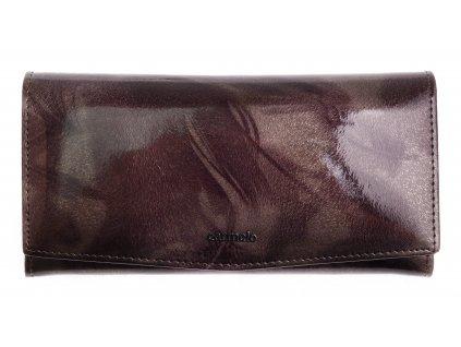 Velká dámská kožená peněženka Carmelo 2109 P Taupe