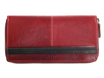 Dámská kožená peněženka Lagen 26512 T Red Black