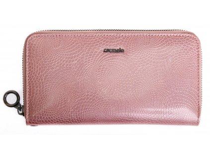 Velká dámská kožená peněženka Carmelo 2102 N Rose