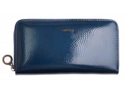 Velká dámská kožená peněženka Carmelo 2111 N Blue