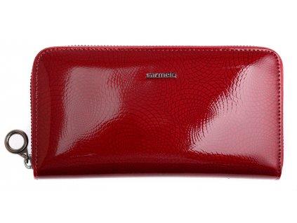 Velká dámská kožená peněženka Carmelo 2111 N Red