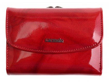 Dámská kožená peněženka Carmelo 2117 P Red rámková