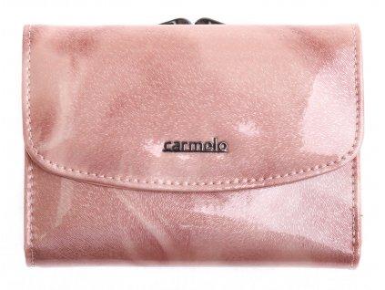 Dámská kožená peněženka Carmelo 2117 P Pink rámková