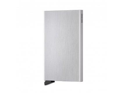 Hliníkové pouzdro na platební karty Cardprotector SECRID Silver Brushed