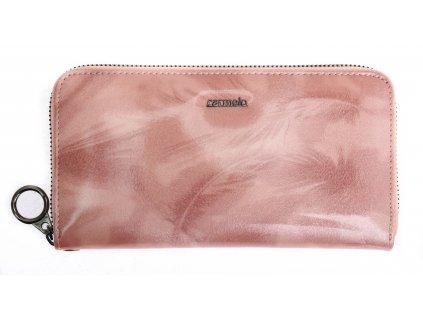 Velká dámská kožená peněženka Carmelo 2102 P Pink