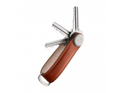 Kožená klíčenka Orbitkey 2.0 Cognac Tan koňaková pro 4, 5, 6, 7 klíčů
