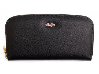 Dámská kožená peněženka na zip - penál Hajn 159301.3 černá Saffiano