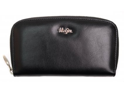 Dámské kožené pouzdro na mobil Hajn 159801.3 penál - černé