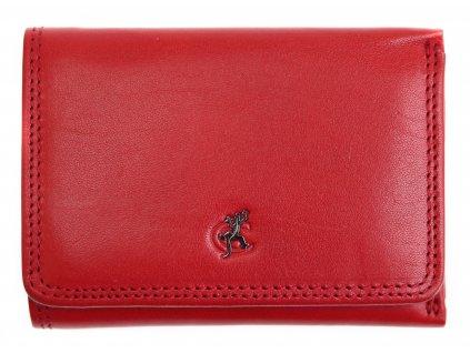 Malá dámská kožená peněženka Cosset 4509 Red Komodo červená