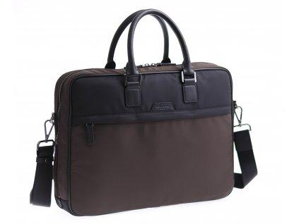 """Pánská taška na notebook Hexagona 635964 hnědá černá nylonová 15"""""""