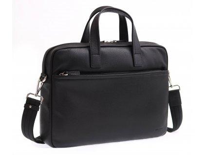 """Pánská kožená taška na notebook Hexagona 686291 černá 13"""""""