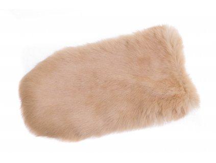 Kožešinové masážní rukavice z králičí kožešiny MAR19