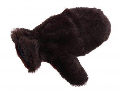 Kožešinové masážní rukavice z králičí kožešiny MAR22