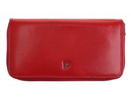 Velká dámská kožená peněženka penál Cosset 4492 Komodo Red