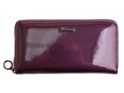 Velká dámská kožená peněženka Carmelo 2102 G fialová