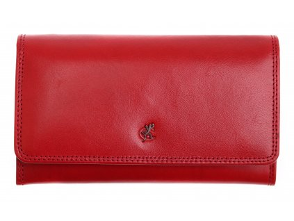 Dlouhá kožená peněženka Cosset 4427 Red Komodo červená