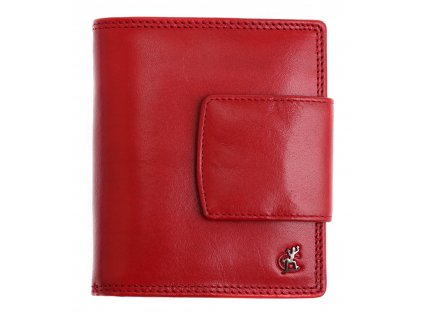 Dámská kožená peněženka Cosset 4404 Red Komodo červená