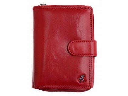 Dámská kožená peněženka Cosset 4512 Komodo červená