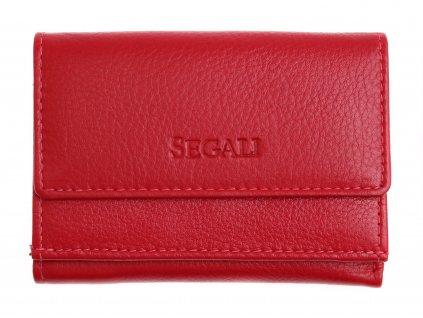 Malinká dámská kožená peněženka Segali SG1756 MINI červená