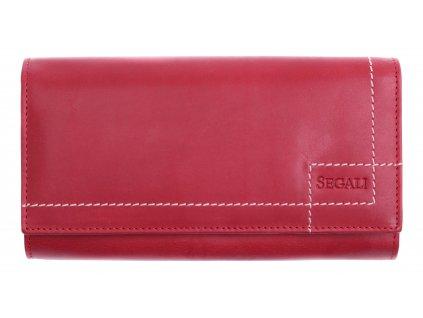 Dámská kožená peněženka Segali SG - 07 červená