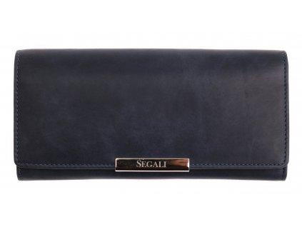 Dámská kožená peněženka Segali SG - 7066 indigově modrá