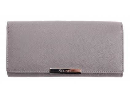Dámská kožená peněženka Segali SG - 7066 šedá