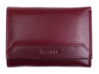 Dámská kožená peněženka Segali SG100B Sherry Red